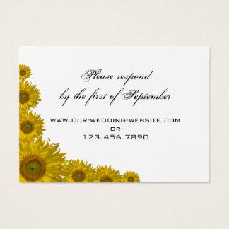 Yellow Sunflower Edge Wedding RSVP Response Card