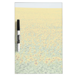 Yellow Sunflower Field Dry Erase Board