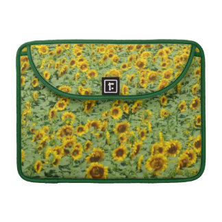 Yellow Sunflower Field Sleeve For MacBooks