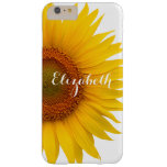 Yellow Sunflower Flower Floral Personalised