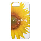 Yellow Sunflower Flower Floral Personalised iPhone 8/7 Case