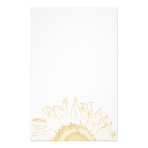 Yellow Sunflower Graphic Stationery