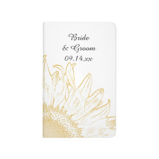 Yellow Sunflower Graphic Wedding Checklist Journal