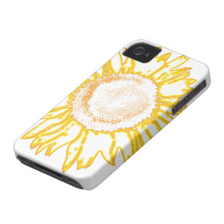 Yellow Sunflower iPhone 4 Case-Mate Barely There