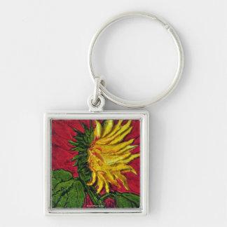 Yellow Sunflower Key Chain