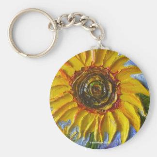 Yellow Sunflower Keychain