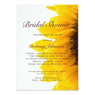 Yellow Sunflower Modern Bridal Shower Invitation