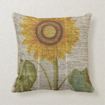 Yellow Sunflower painting Cushion