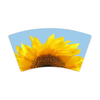 yellow sunflower paper cup