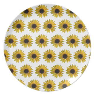 Yellow Sunflower Pattern Plate