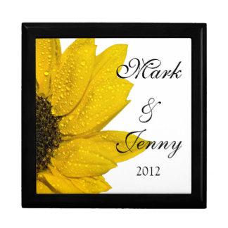 Yellow Sunflower Personalized Jewelry Box