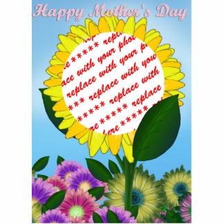Yellow Sunflower Photo Frame for Mother's Day Standing Photo Sculpture