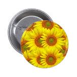 Yellow Sunflower Pin