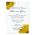 Yellow Sunflower Rehearsal Dinner Invitation 13 Cm X 18 Cm Invitation Card