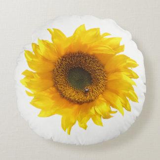 yellow sunflower round cushion