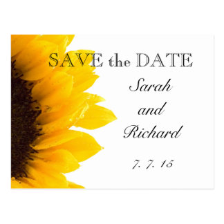 Yellow Sunflower Save the Date Postcard