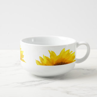 yellow sunflower soup bowl
