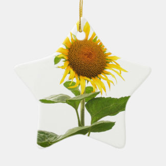 Yellow Sunflower Sun Flower Christmas Ornament