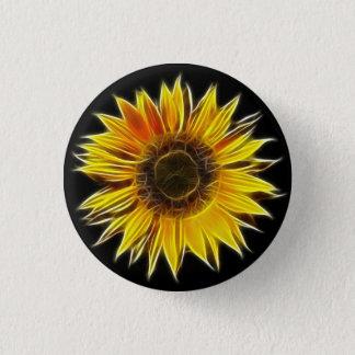 Yellow Sunflower Sun Flower Plant 3 Cm Round Badge
