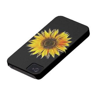 Yellow Sunflower Sun Flower Plant iPhone 4 Case