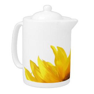 yellow sunflower tea/coffee pot