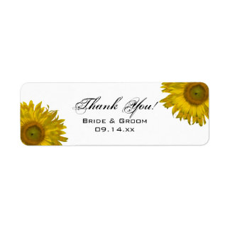 Yellow Sunflower Thank You Favor Tag