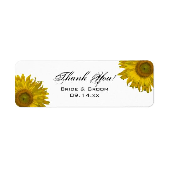 Yellow Sunflower Thank You Favour Tag