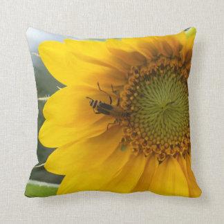 """Yellow Sunflower, Throw Pillow 16"""" x 16"""""""