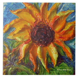 Yellow Sunflower Tile