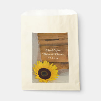 Yellow Sunflower Veil Country Wedding Thank You Favour Bags