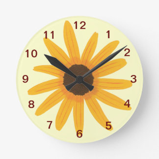 Yellow Sunflower Wall Clock