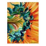 Yellow Sunflower watercolor original art painting Post Cards