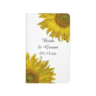 Yellow Sunflower Wedding Checklist Journal