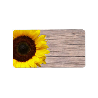 Yellow Sunflower Wedding or General Blank Address Address Label