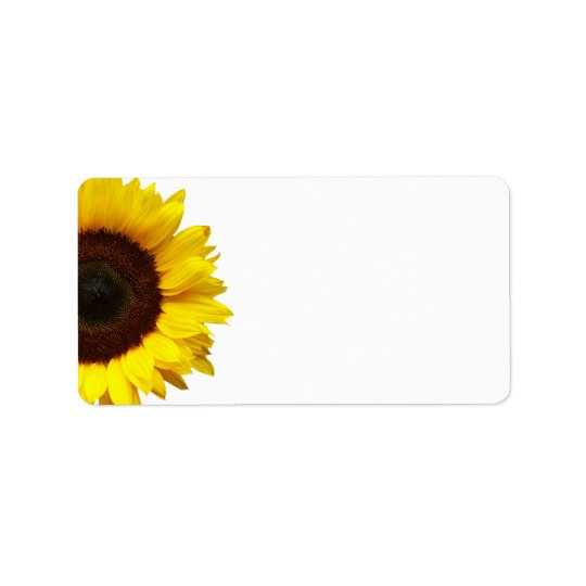Yellow Sunflower Wedding or General Blank Address Label