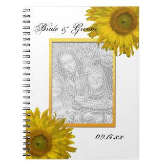 Yellow Sunflower Wedding Photo Notebooks