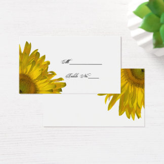 Yellow Sunflower Wedding Place Card