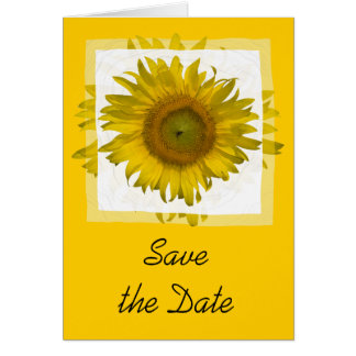 Yellow Sunflower Wedding Save the Date Card
