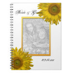 Yellow Sunflower Wedding Spiral Notebook