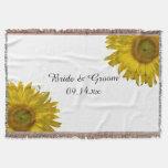 Yellow Sunflower Wedding Throw