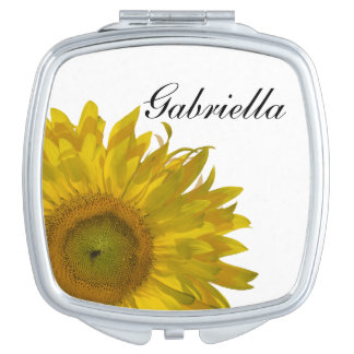 Yellow Sunflower Wedding Vanity Mirror