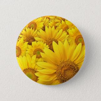Yellow Sunflowers 6 Cm Round Badge