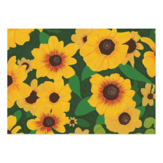 Yellow Sunflowers Artist Trading Card Pack Of Chubby Business Cards
