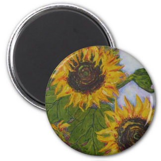 Yellow Sunflowers by Paris Wyatt Llanso Refrigerator Magnets
