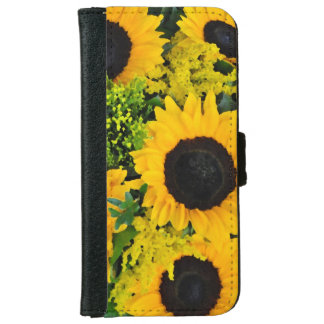 Yellow sunflowers design iphone wallet case