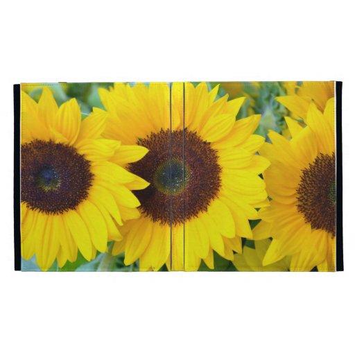 Yellow sunflowers ipad case