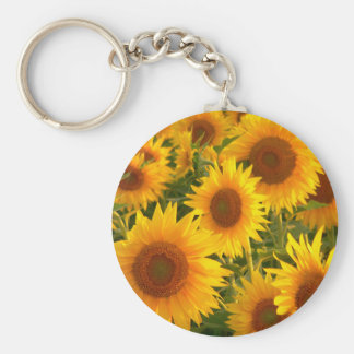 Yellow sunflowers key ring