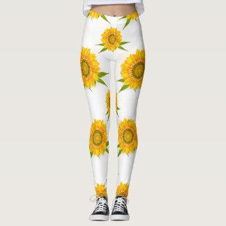Yellow Sunflowers Leggings