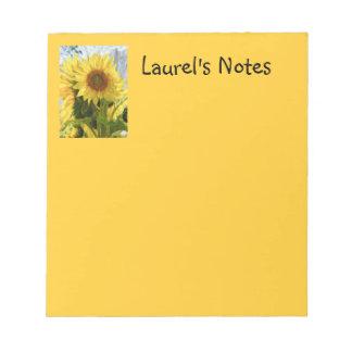 Yellow Sunflowers Notepad