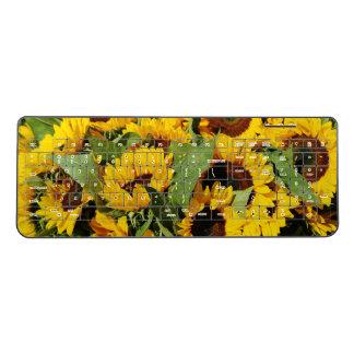 Yellow Sunflowers Photo Wireless Keyboard